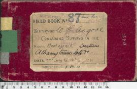 W.H. Angove Field Book No. 87. Containing surveys in the districts Plantagenet. Locations. Albany Town lots etc