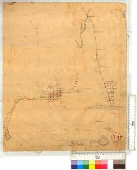 Vicinity of Arthur R., Arthur Bridge and Blackwood Road. Locations Police 31, 53, etc. by Charles Evans [scale: 16 chains to an inch].