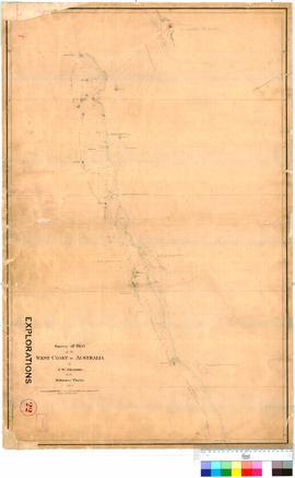 "J.W. Gregory - survey of part of the West coast of Australia in the Schooner ""Thetis"", ..."