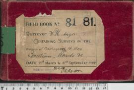 W.H. Angove Field Book No. 81. Containing surveys in the districts Plantagenet and Hay. Locations...