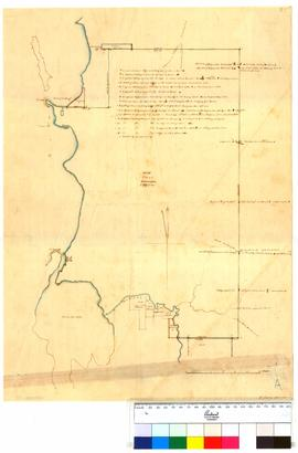 Survey of boundaries of 249,999 acres belonging to Thomas Peel by A.C. Gregory (Peel Inlet to Man...
