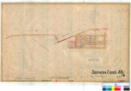 Southern Cross 48/6. Plan of Southern Cross showing Eastern Railway, Reserve 2950. Lots 466-553 b...