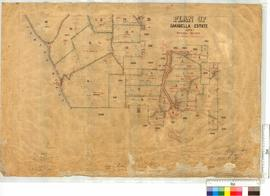 Plan of Oakabella Estate, Lots 1-49, 51-54, sheet 1 by J.P. Camm and Lymburger [scale: 20 chains ...