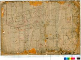 Mt Barker 159/1. Plan of Townsite of Mt Barker showing Lots and roads and Railyard [Probably by R...