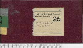 Field Book No. 26. W.H. Angove. Williams