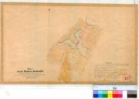 Perth 18/13. Plan of part of Perth Townsite showing same alterations between Wellington & Ellen Streets as proposed to be put in effect 18/9/1840. [scale: 6 chains to an inch, Tally No. 005786].