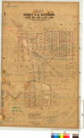 Harvey Agricultural Area Extension - Lots 201-250, 252-260 (vicinity of the Harvey River) by G.J....