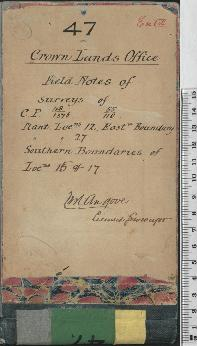 W.H. Angove Field Book No. 47