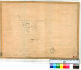 Perth 18W. Plan of Perth Town Lots 204, 204, 206, 220-222 as marked by Alex Forrest, dated 1872. [scale: 6 chains to an inch, Tally No. 005775].