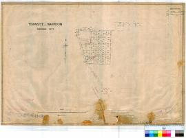 Narrogin 160/4. Plan of Narrogin Townsite Sub. Lots 302-324 by H. Gladstones Fieldbook 25 dated 1...