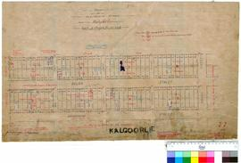 Kalgoorlie 77/2. Plan of residence areas, Kalgurli (spelling corrected). E. R. Manning [scale: 2 chains to an inch].