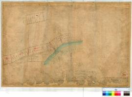 Perth 18I. Plan of Sub. Allotments in Perth Townsite vicinity Melville Water, Fremantle & Quarry Roads & Winthrop Avenue. Lots by William Phelps 1858-1860; by James Cowle 1867; by A. Forrest 1901; by G.W. Leeming [scale: 4 chains to an inch, Tally No. 005760].