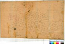 Perth 18D. Plan of Perth Townsite showing Lots & Streets between Brisbane & Bazaar Streets & Albert Square and Swan River (Claise Brook). Additions & Alterations, undated and unsigned [scale: 6 chains to an inch, Tally No. 005756].
