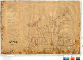 Mt Erin Estate subdivision sheet 1 by J.P. Camm, Fieldbook 54 [scale: 20 chains to an inch].