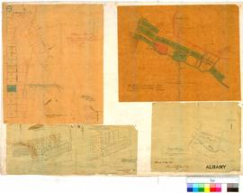 Tracing from plan of Albany as marked on ground by P Chauncy 1851. Shows area bounded by Parade, ...