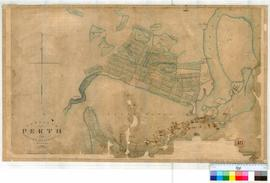 Perth 18. Plan from actual survey of Township of Perth showing Lots, Streets & Lakes bounded ...