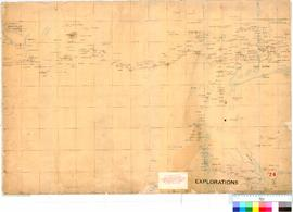 C.C. Hunt - exploration track eastward, February-October 1864 (Central sheet - see also nos. 23 &...