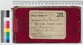 Field Book No. 28. Surveyor - Jno. Forrest. Containing surveys in the districts - Kimberley and North West