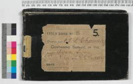 P.L.S. Chauncy Field Book No. 5