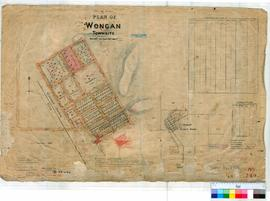Wongan Hills 349. Plan of Townsite of Wongan Hills showing Lots bounded by Fenton, Ackland, Patterson & Moore Streets by E.A. Fenton [scale: 3 chains to an inch].