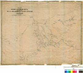 W.F. Randall - Plan showing explorations routes in search of Wells and Jones of the Calvert Expedition [duplicate tracing].