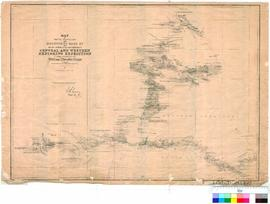W.C. Gosse - map of the route travelled and discoveries made by the South Australian Government -...