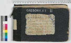 F.T. Gregory Field Book No. 11