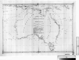 General Chart of Terra Australis or Australia showing the parts explored by Matthew Flinders [b/w photographic print only].