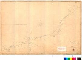 J. Cowle - plan of route from Roebuck Bay to Tien Tsin Harbour by James Cowle, Assistant Surveyor 1866.