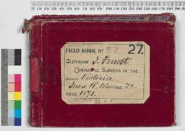 Field Book No. 27. Surveyor - J. Forrest. Containing surveys in the districts - Victoria, Swan River, traverse, etc.