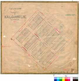 Kalgoorlie 77/1. Extension of townsite of Kalgoorlie. Lots 121 to 280. G. Claude Hamilton [scale:...