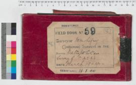 J.H.M. Lefroy Field Book No. 59