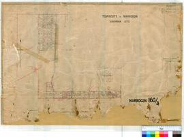 Narrogin 160/3. Plan of Narrogin Townsite Suburban Lots showing reserve for Cemetery & variou...