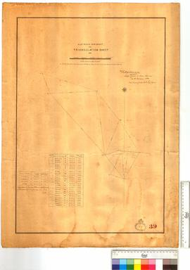 Australia, North-West Coast. Triangulation Sheet, 1881 [scale: scale: 1/2 inch to 1 mile of 6053 feet] Surveyed by W.E. Archdeacon.