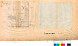 (Capel) Sketch of Coolingnup Reserve, showing allotments as proposed to be marked by Robert Austen 16/6/1856, Cemetery and Capel River also shown. [Scale: 8 chains to an inch]