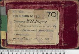 W.H. Angove Field Book No. 70