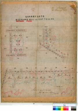Cottesloe 79/7A. Quarry lots, Mosman Park and Cottesloe. A. H. Smith [scale: 2 chains to 1 inch].