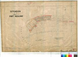 Port Hedland 102/3. Plan of Extension of Townsite of Port Hedland showing Lots 7-127 bounded by T...