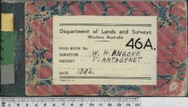 W.H. Angove Field Book No. 46A. District Plantagenet