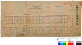 Kalgoorlie 77/5. Plan of residence areas, Kalgurli [spelling corrected]. H. M. Butler [scale: 2 chains to an inch].