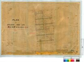 Plan of Geraldton Town lots 306-319, 470-477, etc by M.E. Minchin [scale: 3 chains to an inch].