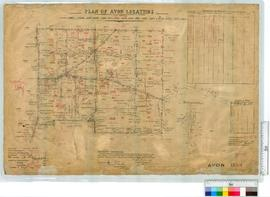 Locations 11485-11489, 11497-11501, etc. by Denny, Fieldbooks 130 and 132 [scale: 20 chains to an...