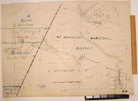 North Murchison; Cue; Mount Magnet; Mount Margaret Electoral Districts - Kyarra; Star of the East; Paynesville census sub-districts [on base map 8M (24/6/1899)]