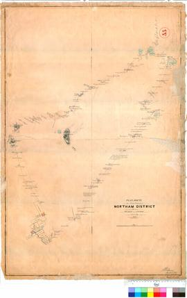 A. Hillman and Lefroy - plan of route to the north and east of the Northam District, June/July 1846.