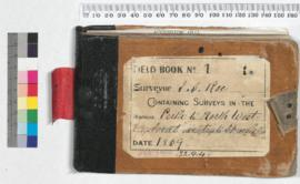 Field Book No.1. Surveyor J.S. Roe containing surveys in the districts Perth to Northwest Explora...