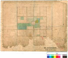 Bejoording 21. Plan of Suburban Lots at Bejoording, A. Hillman, Surveyor.