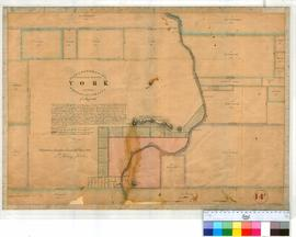 York 14F. Plan of boundaries proposed for Townsite of York on 7/3/1830. Lots shown in vicinity of...
