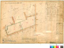 Fremantle 19/24. Plan of Fremantle Town Lots 1508 and 1517. Lefroy [scale: 2 chains to 1 inch].