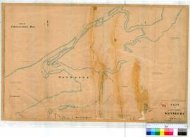 Wonnerup 25. Plan of Townsite of Wonnerup showing Point Geographe Bay, the Sabina and Abba Rivers and land owned by Bussell, Chapman, Layman & Cook by H.M. Ommanney [scale: 8 chains to an inch, Tally No. 005898].