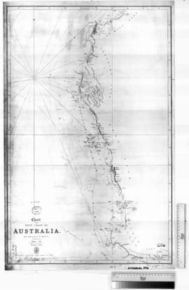 Chart of The West Coast by P. King. (shows Herald's Track, 1858) [b/w photographic print only].